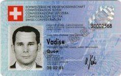 Spécimen de carte identité suisse